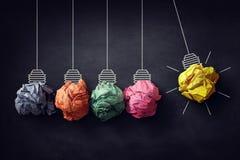 Вашгерд ` s Ньютона скомкал бумажную блестящую идею шарика Стоковые Фотографии RF