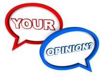 Ваше мнение Стоковое фото RF