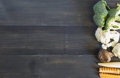 ваше овощей текста места предпосылки деревянное Овощи для здоровья стоковая фотография rf