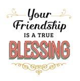 Ваше приятельство истинное благословение иллюстрация вектора
