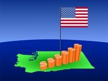 вашингтон карты диаграммы доллара бесплатная иллюстрация