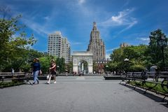 вашингтон квадрата парка nyc стоковые изображения