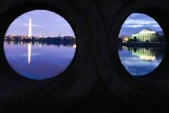 Вашингтон - мемориал и памятник Jefferson Стоковые Фотографии RF