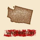 Вашингтон огорчил карту бесплатная иллюстрация