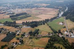 вашингтон положения сельскохозяйствення угодье Стоковые Фото
