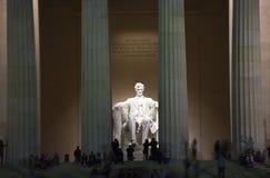вашингтон статуи lincoln вечера dc мемориальный стоковое фото
