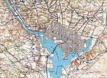 вашингтон 1890 карты dc Стоковое Фото