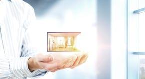 Ваш дизайн дома мечты Мультимедиа стоковая фотография rf