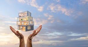 Ваш дизайн дома мечты Мультимедиа стоковые изображения