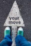 Ваш знак движения стоковые фотографии rf