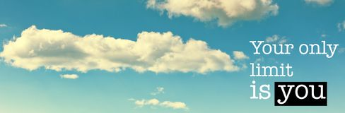 Ваш только предел вы предпосылка голубого неба стоковые изображения rf