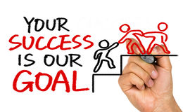 Ваш успех наша цель стоковые изображения rf