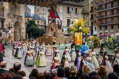 Валенсия, Испания, фестиваль Fallas Стоковая Фотография RF