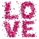 Валентайн влюбленности s иллюстрации сердец дня Стоковое Изображение RF