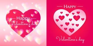 Валентайн влюбленности s иллюстрации сердец дня Стоковое Изображение