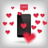 Валентайн и принципиальная схема влюбленности Стоковые Фотографии RF