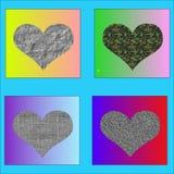 Валентайн иллюстрации s сердца дня счастливое Стоковые Фотографии RF