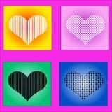 Валентайн иллюстрации s сердца дня счастливое Стоковые Изображения RF