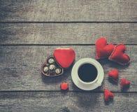 Валентайн красного цвета сердец карточки Стоковые Фотографии RF