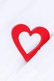 Валентайн дня счастливое s белизна вектора иллюстрации сердца предпосылки красная Стоковое Фото