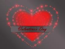 Валентайн дня s накаляя сердца Стоковая Фотография RF