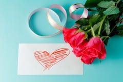 Валентайн приветствию s дня карточки Стоковые Фото