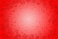 Валентайн святой иллюстрации сердец предпосылки красное Стоковая Фотография RF