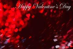 Валентайн сердец красное s золота дня предпосылки Стоковые Фотографии RF