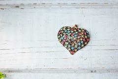 Валентайн сердец красное s золота дня предпосылки Стоковое Изображение RF