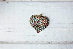Валентайн сердец красное s золота дня предпосылки Стоковые Фото