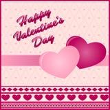 Валентайн сердец s 2 дня карточки Стоковые Фотографии RF