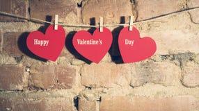 Валентайн сердец s дня карточки Стоковое Изображение RF