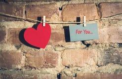 Валентайн сердец s дня карточки Стоковое Изображение