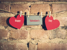 Валентайн сердец s дня карточки Стоковое фото RF