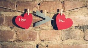 Валентайн сердец s дня карточки Стоковая Фотография RF
