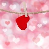 Валентайн сердец s дня предпосылки Стоковая Фотография