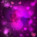 Валентайн сердец s дня предпосылки Стоковое Изображение