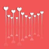 Валентайн сердца s дня Значок сердца с тенью Стоковые Фото