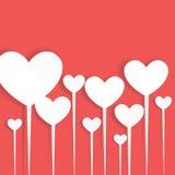 Валентайн сердца s дня Значок сердца с тенью Стоковые Изображения RF