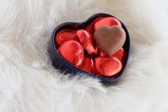Валентайн формы влюбленности сердца карточки романтичная предпосылка Стоковая Фотография RF
