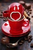 Валентайн формы влюбленности сердца карточки Стоковые Фотографии RF