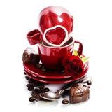 Валентайн формы влюбленности сердца карточки Стоковое Фото