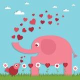 Валентайн формы влюбленности сердца карточки иллюстрация вектора