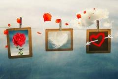 Валентайн формы влюбленности сердца карточки Стоковые Изображения RF