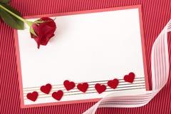 Валентайн формы влюбленности сердца карточки Стоковое Изображение RF