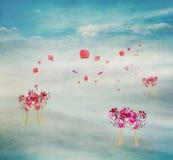 Валентайн формы влюбленности сердца карточки Стоковая Фотография