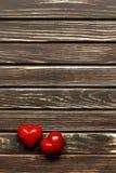 Валентайн формы влюбленности сердца карточки Стоковые Фото