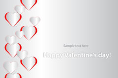 Валентайн формы влюбленности сердца карточки Стоковое Изображение