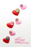 Валентайн формы влюбленности сердца карточки Стоковое фото RF