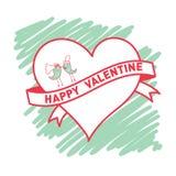 Валентинка знамени счастливая Стоковые Фотографии RF